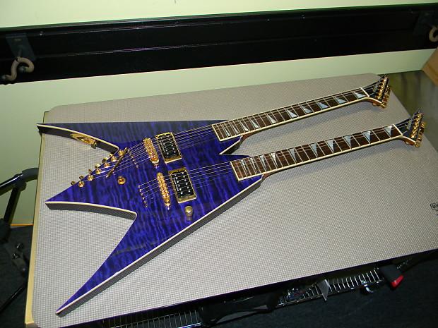 jackson usa custom shop king v doubleneck guitar trans royal reverb. Black Bedroom Furniture Sets. Home Design Ideas