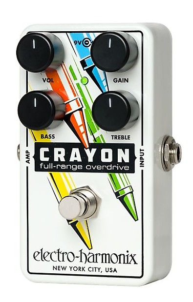 electro harmonix crayon full range overdrive distortion reverb. Black Bedroom Furniture Sets. Home Design Ideas