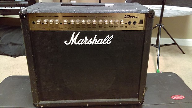 marshall marshall mg 100 dfx amplifier black gold reverb. Black Bedroom Furniture Sets. Home Design Ideas