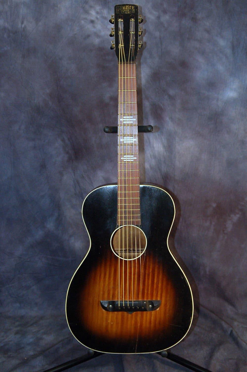 Vintage Rare 1950 S Bronson Square Neck Slide Blues Guitar