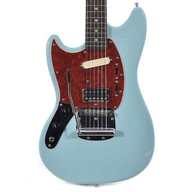 fender kurt cobain left handed signature mustang sonic blue reverb. Black Bedroom Furniture Sets. Home Design Ideas