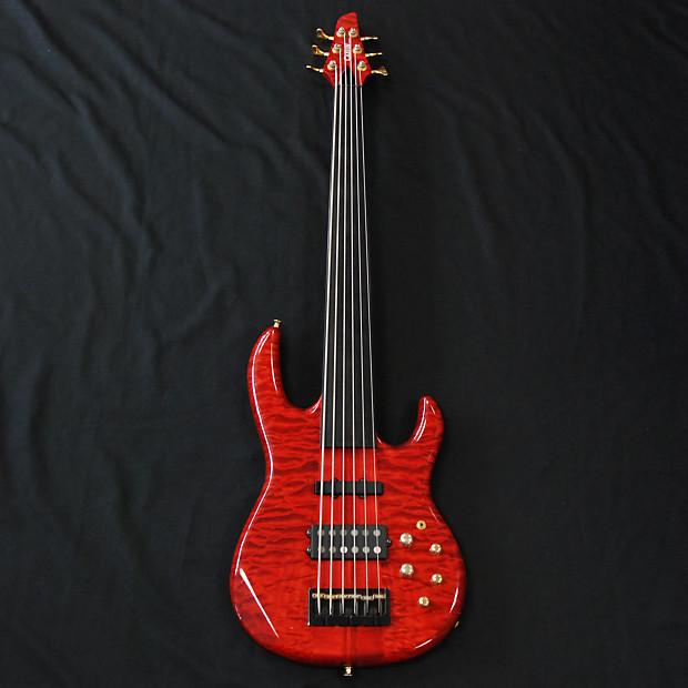 carvin lb transparent red 6 string fretless bass reverb. Black Bedroom Furniture Sets. Home Design Ideas