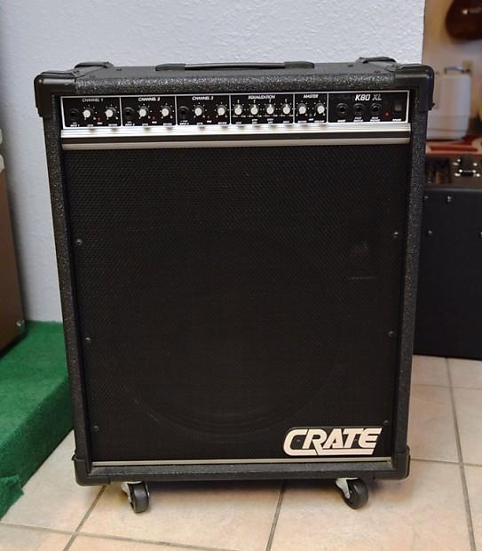 crate k80xl keyboard amplifier on casters reverb. Black Bedroom Furniture Sets. Home Design Ideas