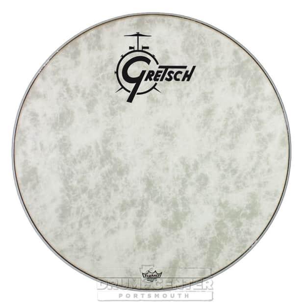 gretsch bass drum head fiberskyn 24 with logo reverb. Black Bedroom Furniture Sets. Home Design Ideas