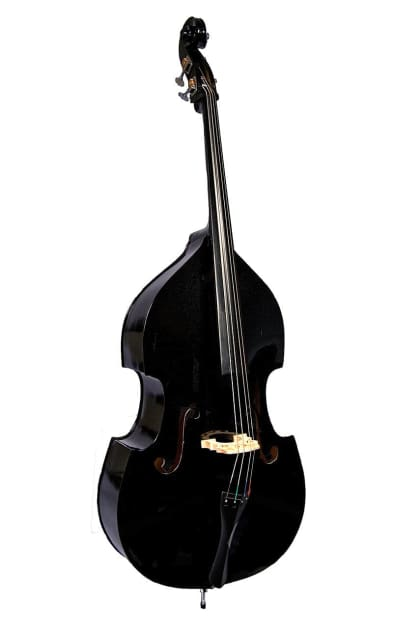 black 3 4 double bass upright bass acoustic rockabilly style reverb. Black Bedroom Furniture Sets. Home Design Ideas