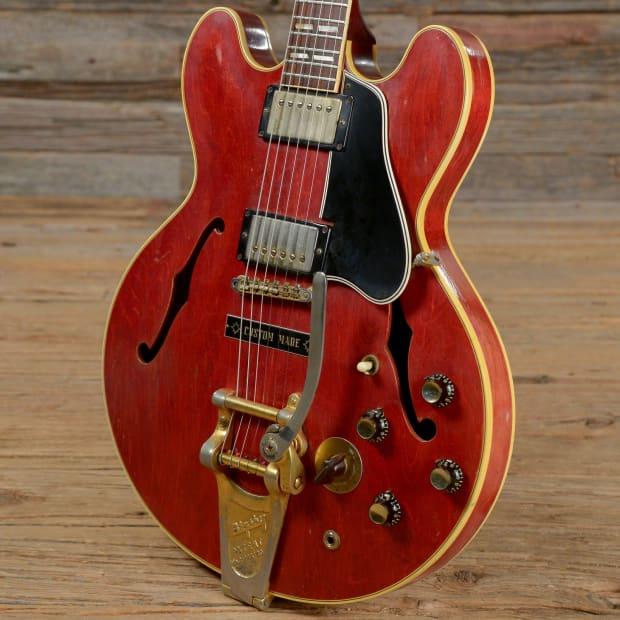 Gibson Es 345 Cherry 1961 W Bigsby S056 Reverb