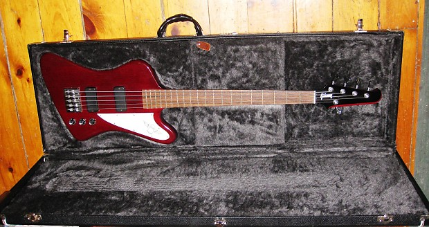 gibson thunderbird studio 5 string bass 2006 cherry red reverb. Black Bedroom Furniture Sets. Home Design Ideas