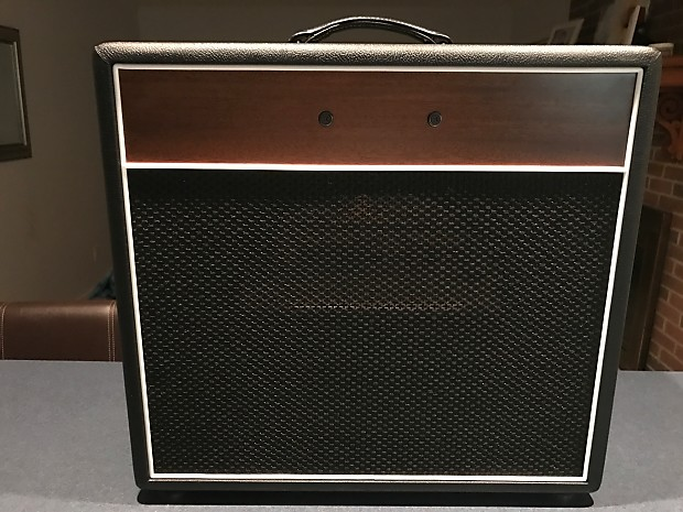 guitar amp combo cabinet empty fits deluxe 5e3 style black reverb. Black Bedroom Furniture Sets. Home Design Ideas
