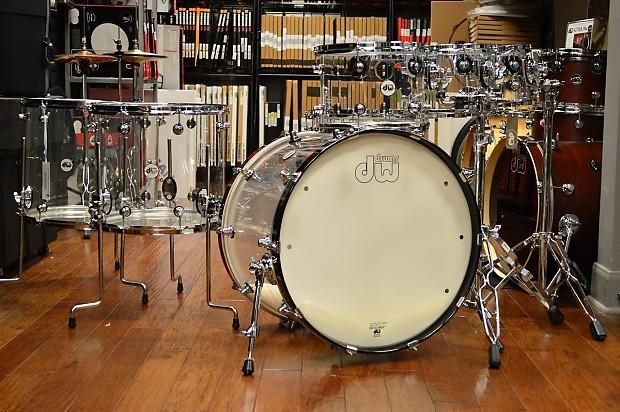 dw acrylic design series drum 7 piece set 22 8 10 12 16 18 14 reverb. Black Bedroom Furniture Sets. Home Design Ideas