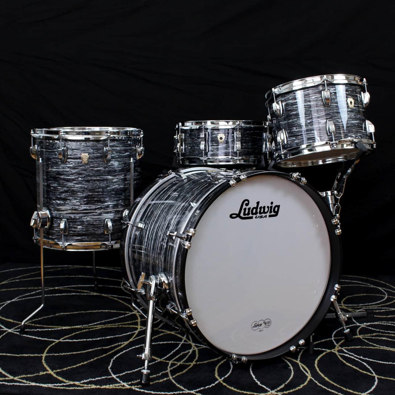 ludwig classic maple downbeat drum set vintage black oyster reverb. Black Bedroom Furniture Sets. Home Design Ideas