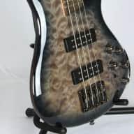 <p>Ibanez Soundgear SR-400-EQM 4 String Electric Bass Guitar 2015 Fade Blue Burst</p>  for sale