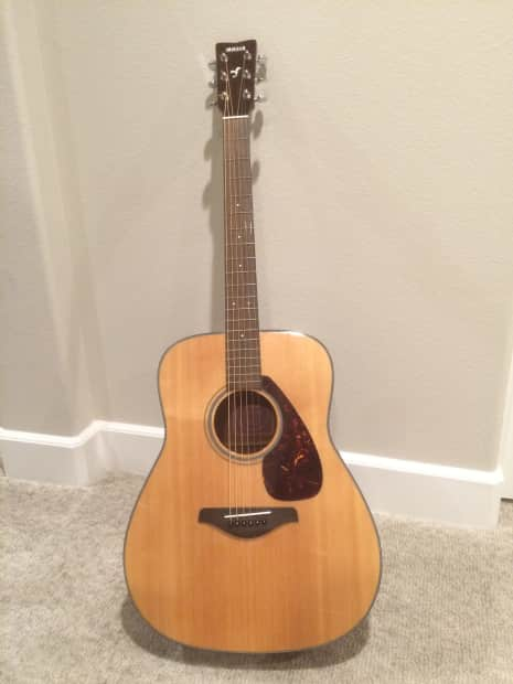 Yamaha fg700s natural with strap reverb for Yamaha fg700s dimensions