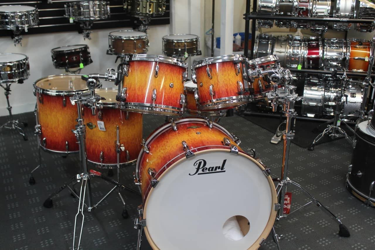 pearl masters custom vintage sunburst 7 piece drum kit reverb. Black Bedroom Furniture Sets. Home Design Ideas