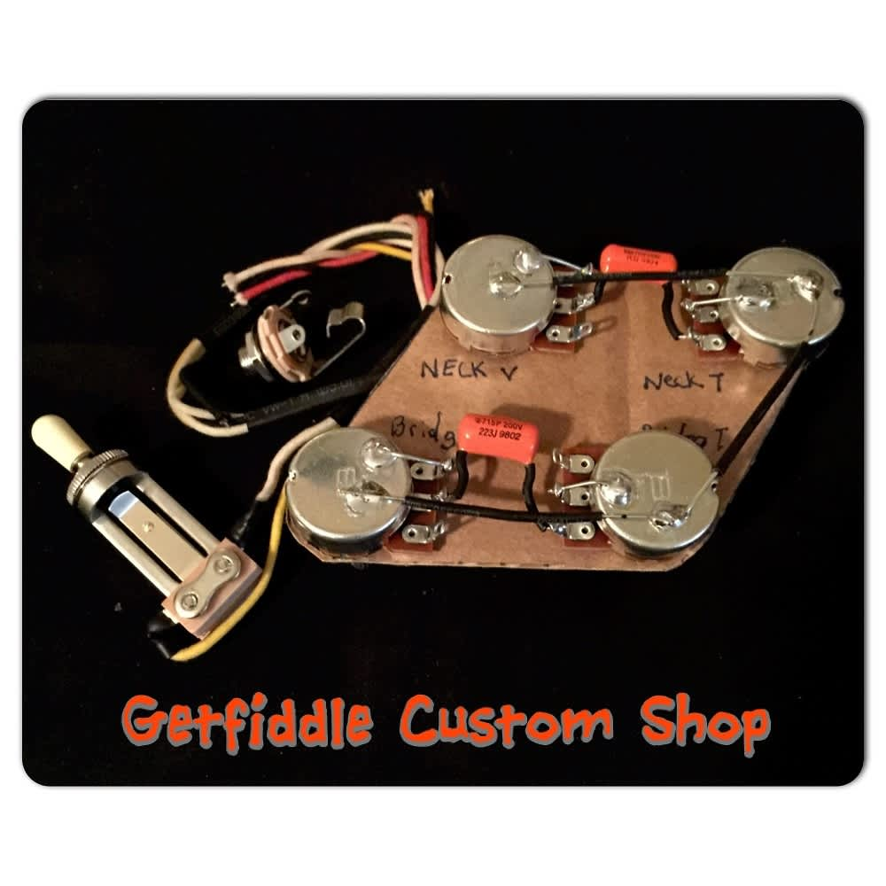 Gibson 50's upgraded wiring harness Bourns Switchcraft ...