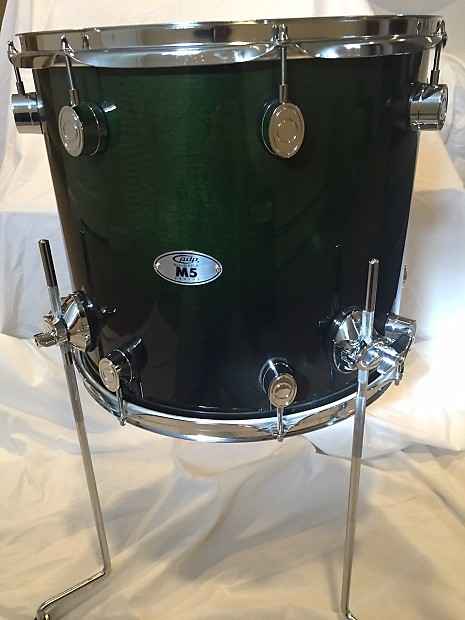 Pdp by dw m5 14x16 maple floor tom emerald green to for 16 x 14 floor tom