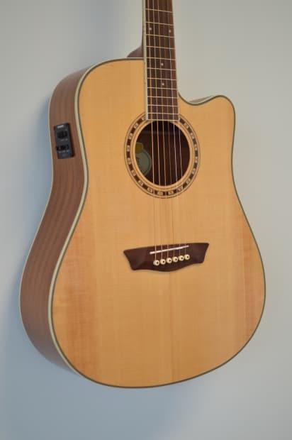 washburn acoustic electric guitar heritage series wd10sce reverb. Black Bedroom Furniture Sets. Home Design Ideas