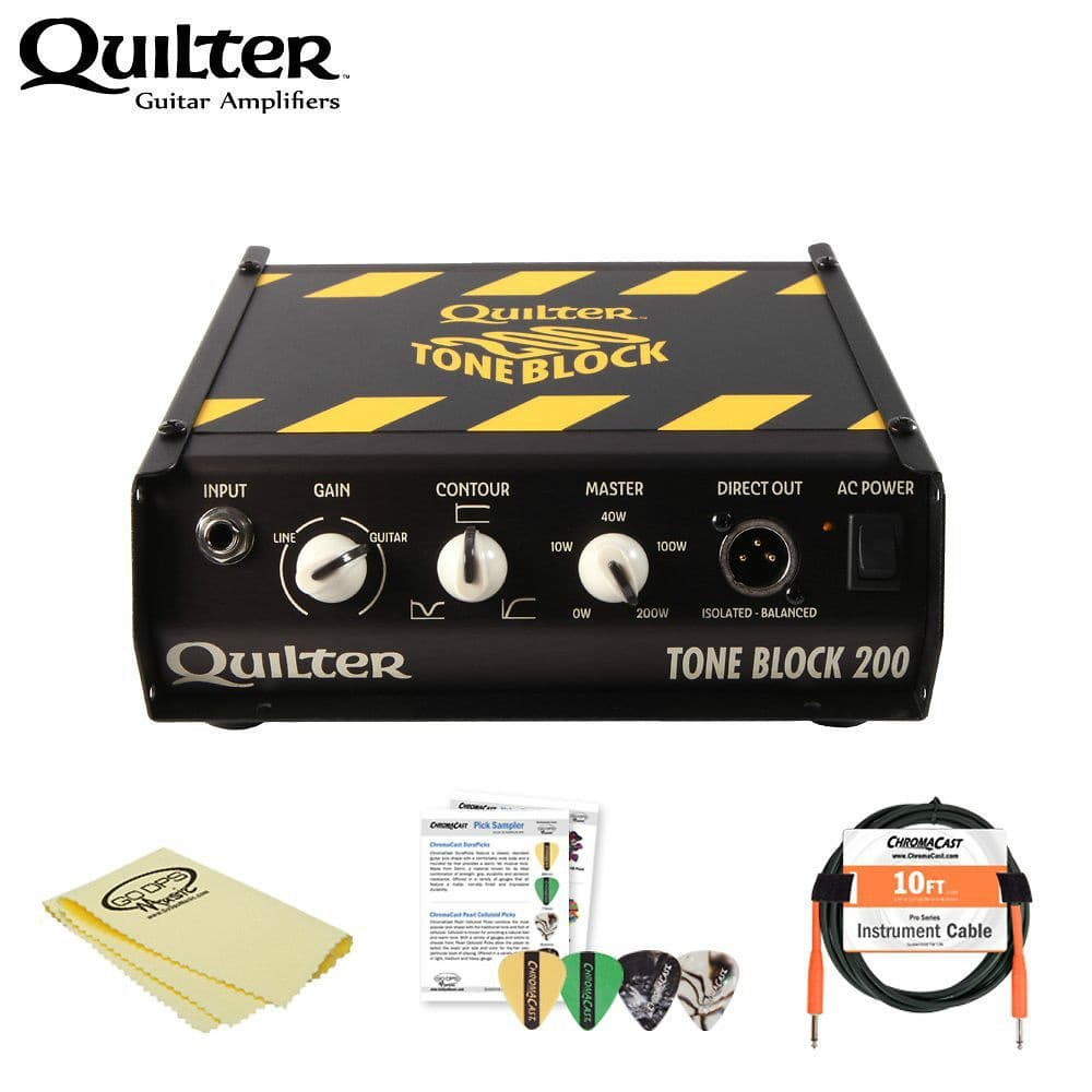 200 Amp Power Cable : Quilter tone block amp head w cable picks and polish