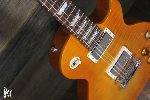 Gibson gary moore les paul lemonburst final drop reverb - Gibson gary moore ...
