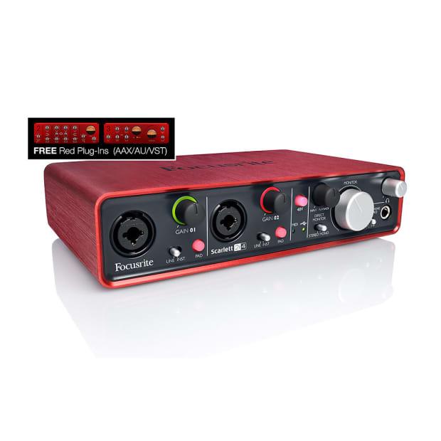 focusrite scarlett 2i4 2 input 4 output usb audio interface reverb. Black Bedroom Furniture Sets. Home Design Ideas