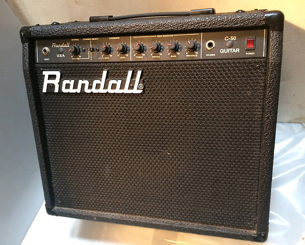 randall c 50 solid state combo amp for heavy metal reverb. Black Bedroom Furniture Sets. Home Design Ideas