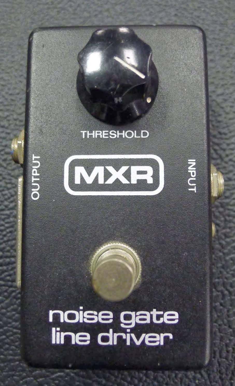 Mxr Noise Gate Line Driver Black Guitar Effect Pedal