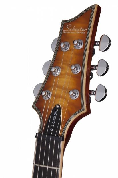 schecter c 1 custom natural vintage burst nvb new electric guitar free gig bag c1 c 1 reverb. Black Bedroom Furniture Sets. Home Design Ideas