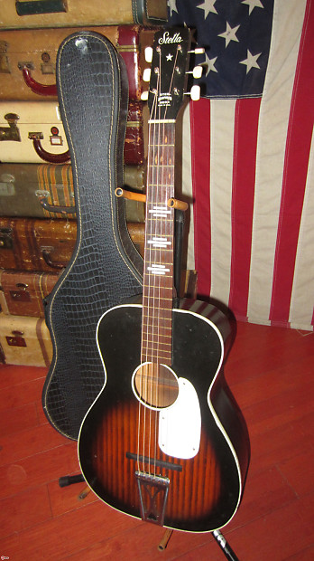 1964 harmony stella flattop acoustic parlor guitar reverb. Black Bedroom Furniture Sets. Home Design Ideas