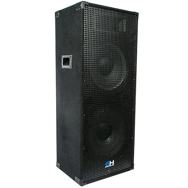 1200w dual 15 inch passive full range pa speaker home dj reverb. Black Bedroom Furniture Sets. Home Design Ideas