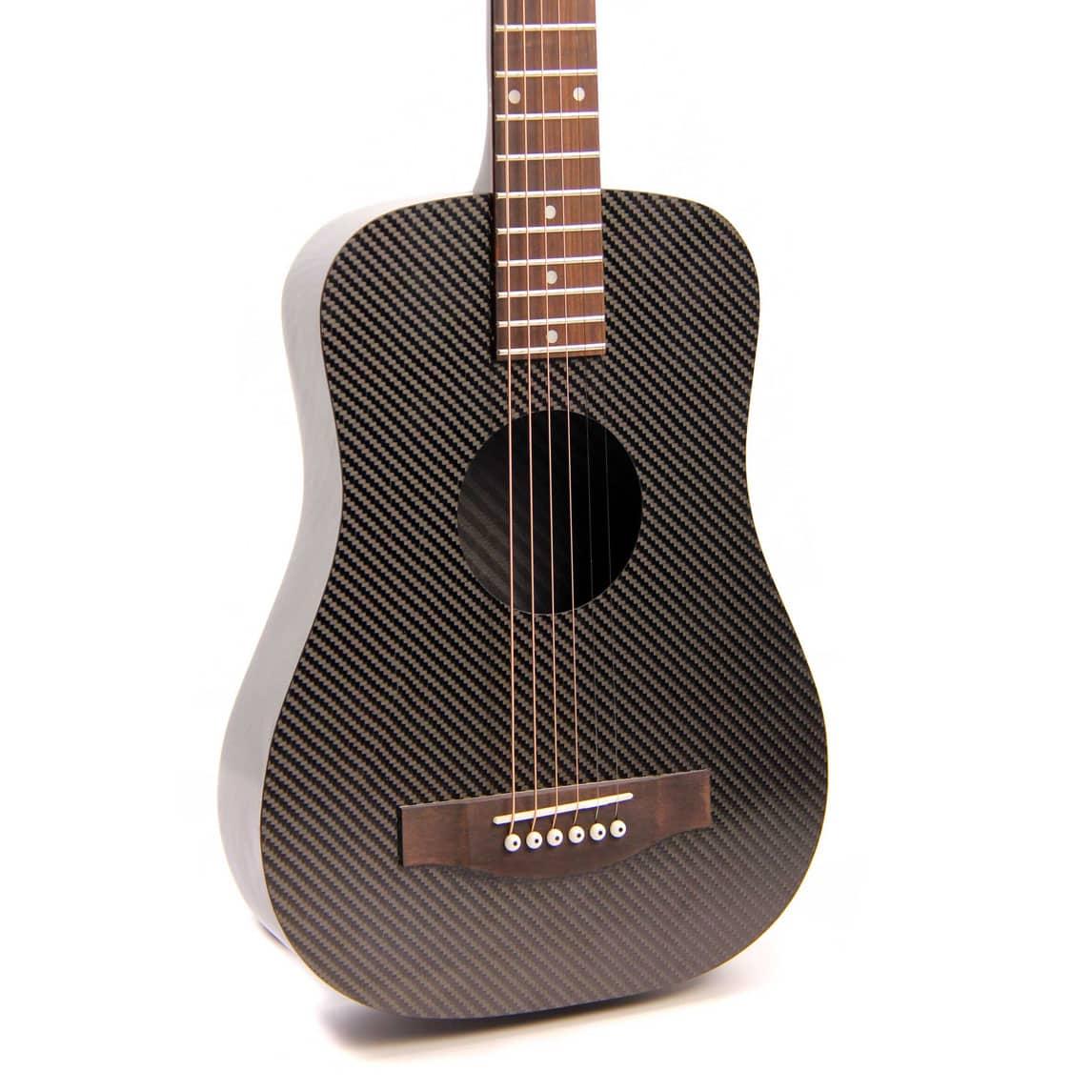 kl s acoustic travel guitar 2016 black carbon fiber reverb. Black Bedroom Furniture Sets. Home Design Ideas
