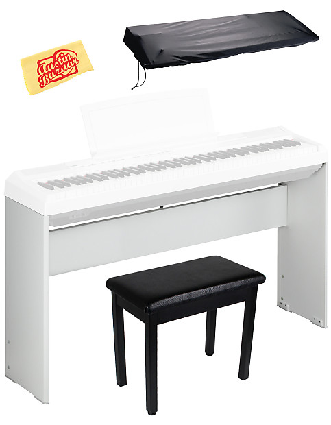 Yamaha l85wh digital piano stand for p35 p85 p95 p105 for Yamaha white piano bench