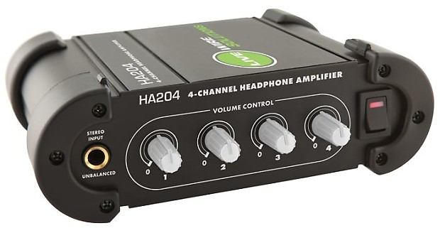 live wire solutions ha204 4 channel headphone amplifier reverb. Black Bedroom Furniture Sets. Home Design Ideas