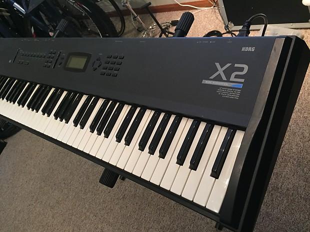 korg x2 76 key synthesizer workstation keyboard synth reverb. Black Bedroom Furniture Sets. Home Design Ideas