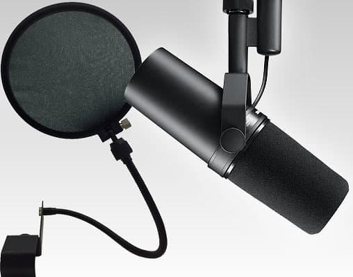 shure sm7b microphone mesh pop filter reverb. Black Bedroom Furniture Sets. Home Design Ideas