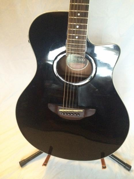 Yamaha apx 500 acoustic electric black reverb for Yamaha fg700s dimensions