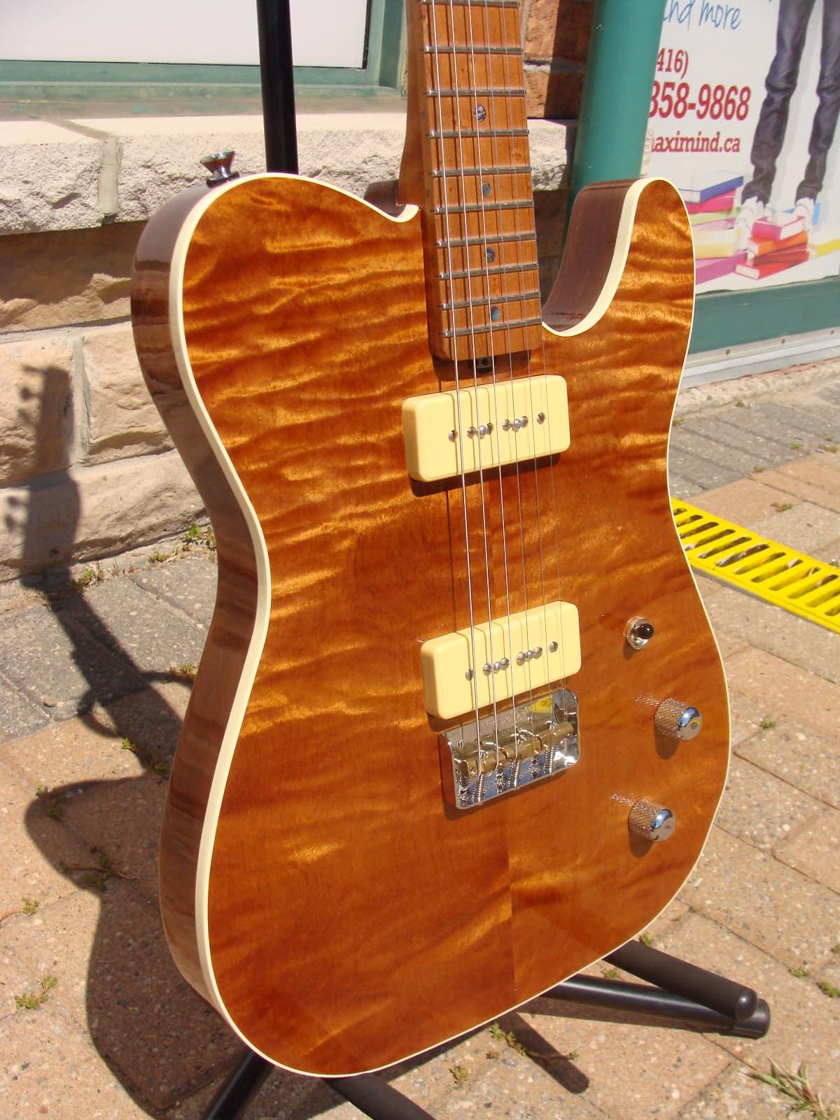 brown bear guitars telecaster lindy fralin p90 pickups reverb. Black Bedroom Furniture Sets. Home Design Ideas