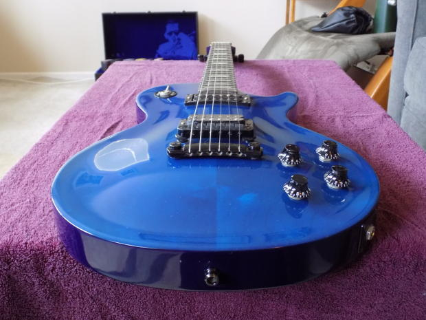 gibson les paul studio lite 1991 blue reverb. Black Bedroom Furniture Sets. Home Design Ideas