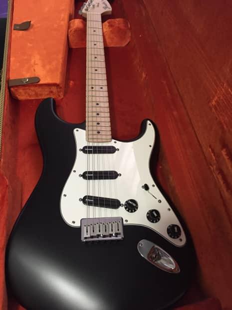 fender billy corgan stratocaster signature strat 2011 black reverb. Black Bedroom Furniture Sets. Home Design Ideas
