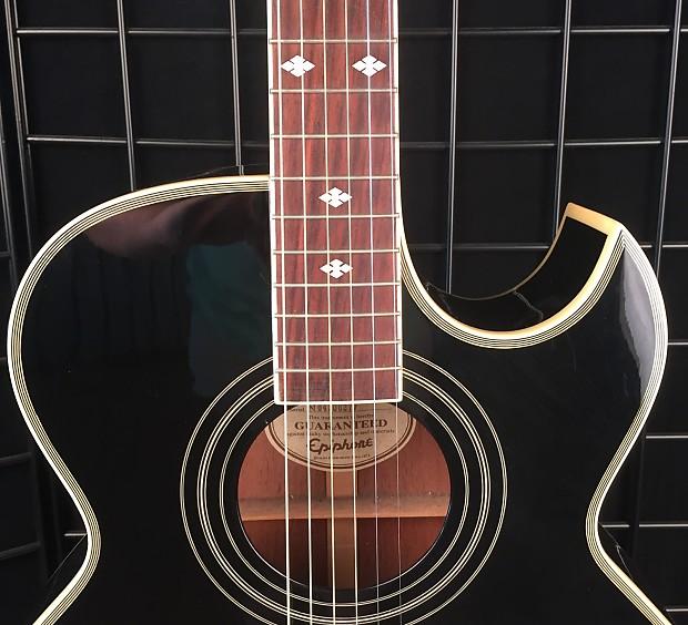 epiphone pr5e thin body acoustic electric cutaway guitar reverb. Black Bedroom Furniture Sets. Home Design Ideas