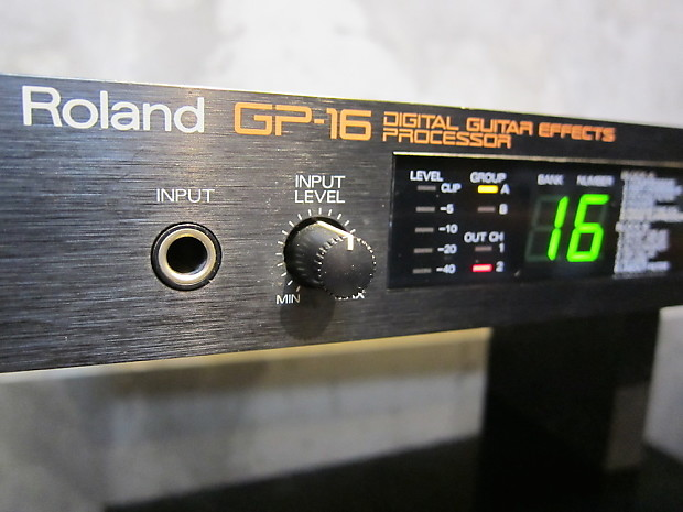 roland gp 16 digital guitar effects processor reverb. Black Bedroom Furniture Sets. Home Design Ideas