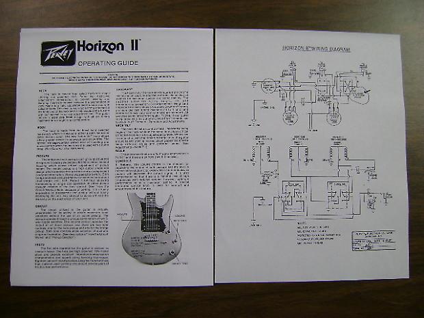 peavey horizon ii 1982 sunburst usa manufactured reverb