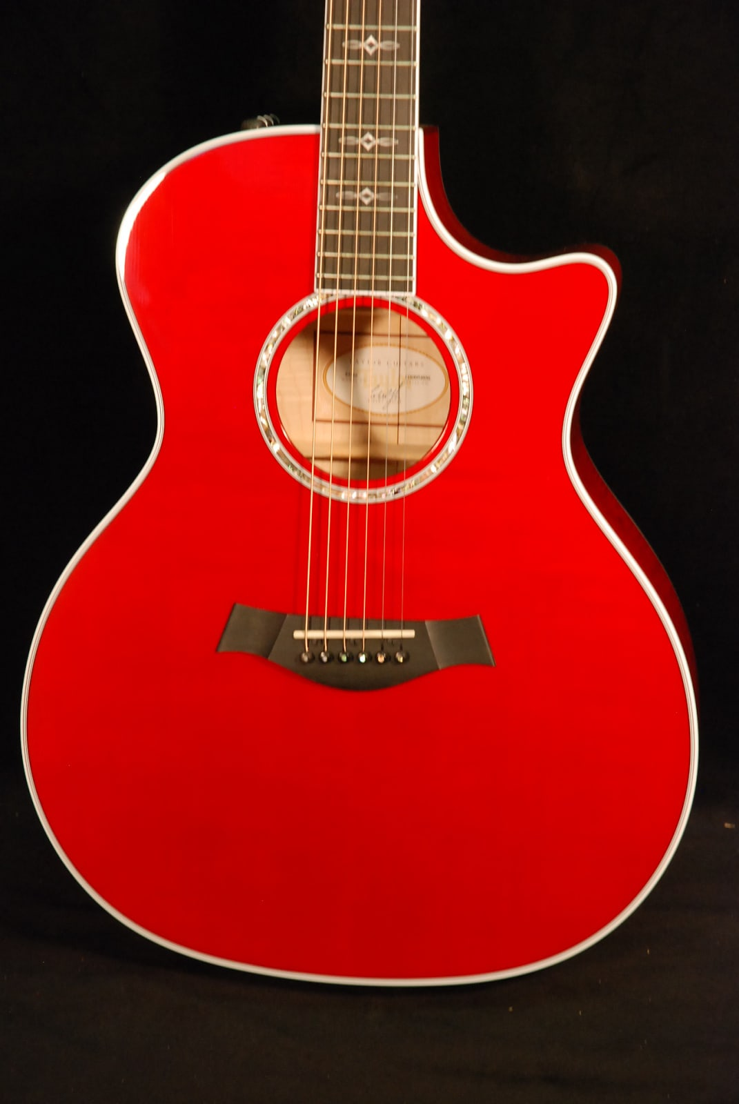 Taylor 614ce Borrego Red Acoustic Electric Guitar 2014