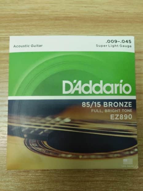 d 39 addario ez890 85 15 bronze light acoustic guitar strings reverb. Black Bedroom Furniture Sets. Home Design Ideas