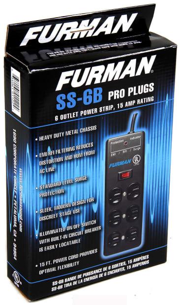furman ss 6b pro plug 6 outlet ac surge power strip reverb. Black Bedroom Furniture Sets. Home Design Ideas