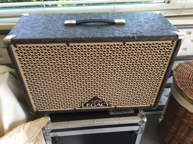 carvin legacy 3 head 2x12 cabinet anvil case with power reverb. Black Bedroom Furniture Sets. Home Design Ideas
