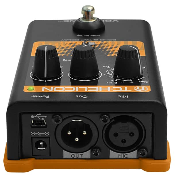 tc helicon voicetone e1 echo and tap delay vocal effects reverb. Black Bedroom Furniture Sets. Home Design Ideas