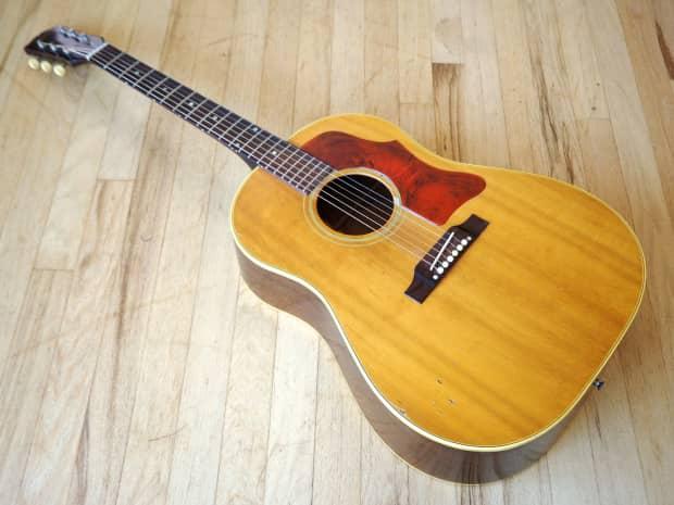 1964 gibson j 50 vintage dreadnought acoustic guitar soft reverb. Black Bedroom Furniture Sets. Home Design Ideas
