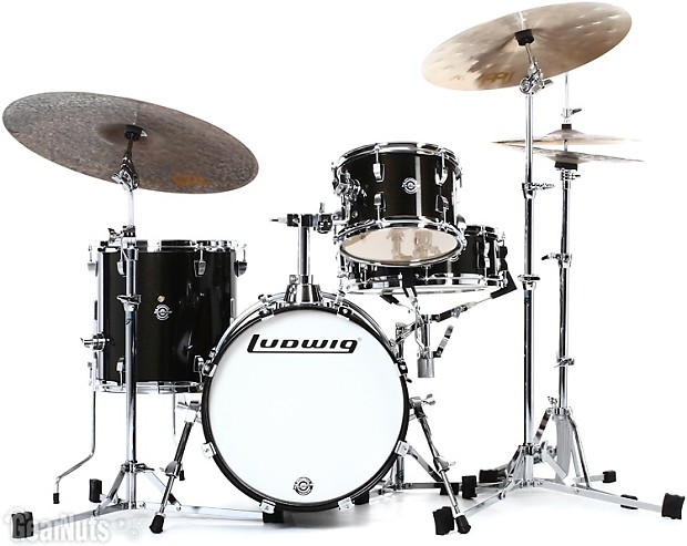ludwig breakbeats by questlove 4 piece shell pack with snare reverb. Black Bedroom Furniture Sets. Home Design Ideas