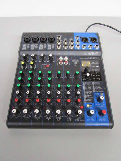 Yamaha mg10xu 10 input mixer with dsp digital effects reverb for Yamaha mg10xu usb cable