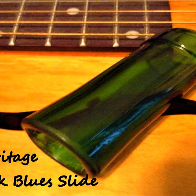 Glass Guitar Slide for resonator, acoustic, electric blues 2016 Emerald Green image