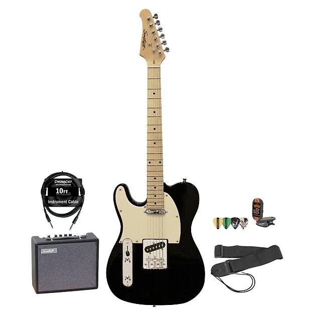 sawtooth left handed black telecaster style electric guitar w reverb. Black Bedroom Furniture Sets. Home Design Ideas